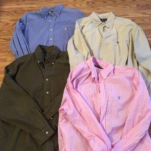 🔥sale👕 Lot Of 4 Polo Ralph Lauren Button Shirts